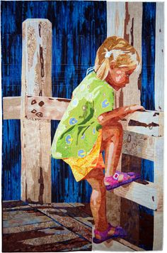 Michelle Jackson, Sweet Determination  Quilt a tribute to a grandchild like this and give as a gift at their graduation