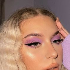 Cute Makeup Looks, Makeup Eye Looks, Eye Makeup Art, Pretty Makeup, Glam Makeup, Skin Makeup, Beauty Makeup, Barbie Makeup, Dramatic Eye Makeup