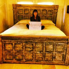 This one-of-a-kind bed from Discoveries is now in the New Orleans home of Kurt Buchert. They were sweet enough to send me this pic.  btw Discoveries customers are THE BEST.