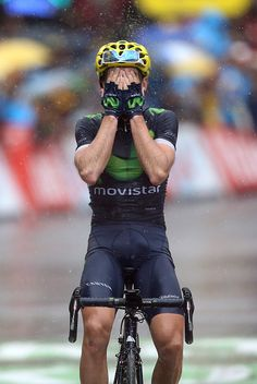 #TDF2016 Jon Izaguirre Insausti of Spain and Movistar Team celebrates winning stage 20 of the Tour de France 2016 a stage of 1465 km between Megeve and...