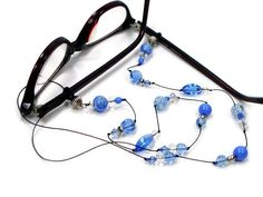 Blue Eyeglass Chain Reading Glasses Lanyard Glasses by TJBdesigns, $18.00