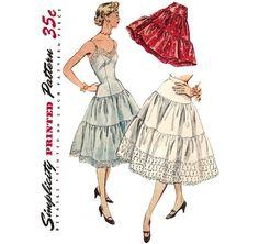 1950s Slip Petticoat Lingerie - Simplicity 4137 Vintage Pattern - Bust 30 on Etsy, $14.00
