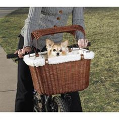 Wicker Pet Bicycle Basket by PetSolutions