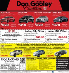 Don Gooley #Cadillac in St Clair Shores special offers.