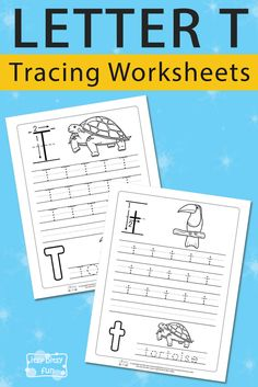 Free Printable Letter T Tracing Worksheets for Kids