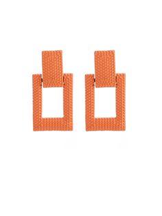 Geometric Design Neon Orange Dangler Earring – Jumkey Fashion Jewellery