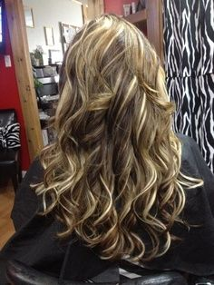 Dark Brown Hair With Chunky Blonde Highlights