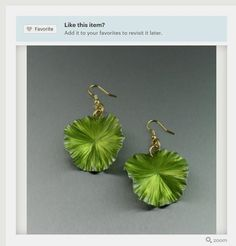 Best Green Lily Pad Earrings Aluminum Earrings Showcased by #Etsy #10thAnniversary #HandmadeJewelry #Accessories https://www.etsy.com/listing/168868871