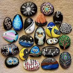 by Alexis Davis Dot Art Painting, Pebble Painting, Pebble Art, Stone Painting, Rock Painting Ideas Easy, Rock Painting Designs, Mandala Painted Rocks, Painted Stones, Inspirational Rocks