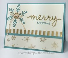 Holly Jolly Greetings stamp set and coordinating Christmas Greetings Thinlits from Stampin' Up! by Kriss Huels.  Details at http://stampwithkriss.com/holly-jolly-greetings-and-huge-stampin-up-sale-begins.  Make your own Christmas cards this year!
