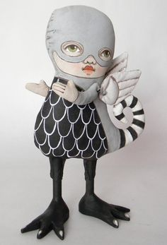 Monster Doll Original Contemporary Folk Art by cartbeforethehorse, $120.00