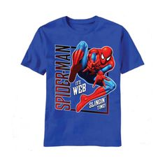 Spiderman Web Swingin T-Shirt Spiderman Web, Amazing Spiderman, Kids Fashion Boy, Boys Shirts, Workout Gear, Kids Outfits, Tees, Mens Tops, T Shirt