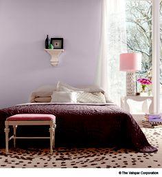 """Winter Calm"" light lilac purple interior wall paint from Valspar."