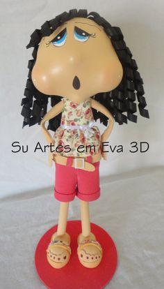 su artes em eva: Fofucha Mariana criação Su Artes em Eva 3D