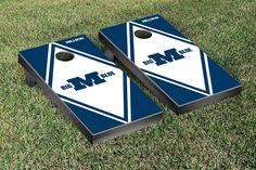 Victory Tailgate Johns Hopkins University Blue Jays Baggo Bean Bag Toss Cornhole Game Vortex Design