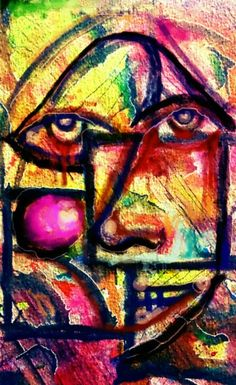 """""""Distorted View"""" watercolor abstract"""