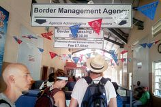 Mexico/Belize Border Crossing