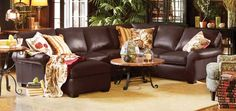 Brentwood Leather Sectional by Arhaus Furniture Sofa Furniture, Living Room Furniture, Living Room Decor, Living Room Update, Living Room Sets, Leather Sectional, Brown Sectional, Sectional Sofas, Luxury Sofa