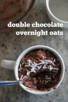 double chocolate overnight oats - Bran Appetit