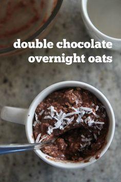 double chocolate overnight oats - Bran Appetit