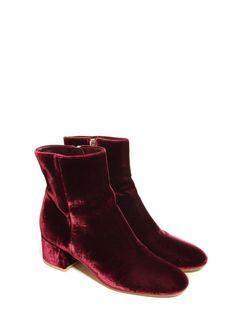 dc322bb7ddc Bottines MARGAUX en velours rouge bordeaux NEUVES Prix boutique 860€ Taille  39