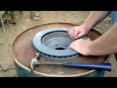 Build a Large Brake Drum Forge with Fire Pot - YouTube