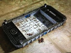 Total genius from Banksy: 'Modern Prison'