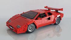 Lego Wheels, Hot Wheels, Lamborghini, Lego Sports, Lego Craft, All Lego, Cool Lego Creations, Lego Projects, Lego Moc