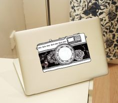 Camera- Macbook Decal Pro/Air Sticker Handmade Skin Partial Protector MacBook decal MacBook pro sticker