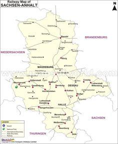Sachsen-Anhalt Railway Map