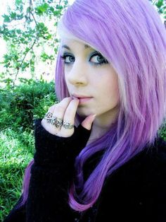 Colorful Hair - Those eyes! Pretty color hair. Incensewoman