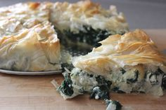 swiss chard (or spinach) and feta phyllo tart