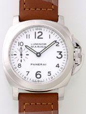 最高級パネライスーパーコピー パネライ時計コピー ルミノールマリーナ PAM00113 44mm シースルーバック ホワイト