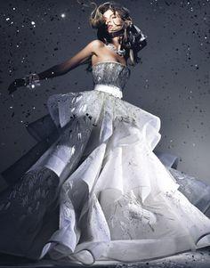 Couture Dress Silver Confetti