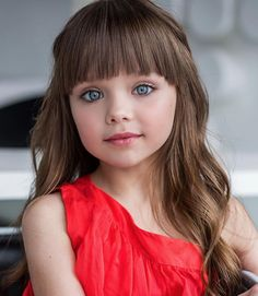 That's how big the Russian girl was named the most beautiful in the world 2017 - All About Hairstyles Little Girl Bangs, Little Girl Haircuts, Little Girl Models, Beautiful Little Girls, Cute Little Girls, Anastasia Knyazeva, Cute Baby Girl Pictures, Cute Young Girl, Hairstyles With Bangs
