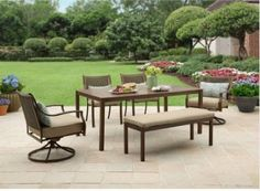 Lynnhaven Patio Furniture Dining Set by Better Homes and Garden, 6-Piece
