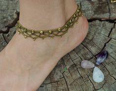 Gypsy Brass Anklet Tribal Anklet Ethnic Jewelry by YemayaSoul