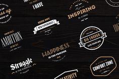 18 Vintage Badges, Insignias, Logos by DesignDistrict on Creative Market