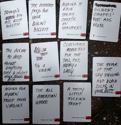 Awesome hilarious and creative ideas for blank cards in cards of humanity