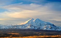 Download wallpapers Mount Elbrus, 4K, panorama, mountains, Russia for desktop free. Pictures for desktop free