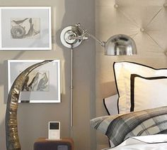 Shop barclay arc sconce from Pottery Barn. Our furniture, home decor and accessories collections feature barclay arc sconce in quality materials and classic styles. Decor, Wall Lights, Furniture, Sconces, Interior, Decor Design, Home Decor, Plug In Wall Lamp, Plug In Wall Sconce