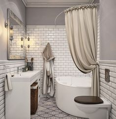 - Architecture and Home Decor - Bedroom - Bathroom - Kitchen And Living Room Interior Design Decorating Ideas - Bathroom Mirrors Diy, Bathroom Interior, Modern Bathroom, Small Bathroom, White Bathroom, Bathroom Ideas, Bad Inspiration, Bathroom Inspiration, Small Tub