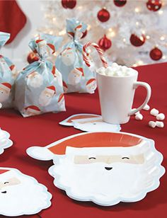 MR. CLAUS PAPER TABLEWARE by Design Design Design Design, Entertaining, Paper, Tableware, Holiday, Style, Swag, Dinnerware, Vacations