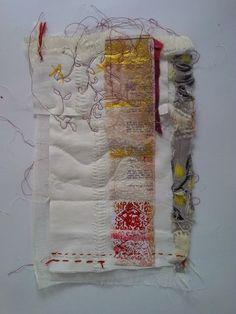 "Képtalálat a következőre: ""cas holmes textile artist"" Stitching On Paper, Quilt Stitching, Textile Fiber Art, Textile Artists, Free Motion Embroidery, Embroidery Art, Textiles, Cas Holmes, Tea Bag Art"