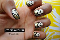 Style Play Polish: Suit & Tie - LoveBrownSugarLoveBrownSugar