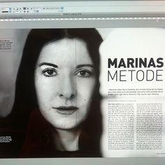 """@gallerifineart's photo: """"Neste utgave av #KUNST er på tegnebrettet! Les bl.a om #marina #abramovic. #magasin #performance"""" Moma, Instagram"""