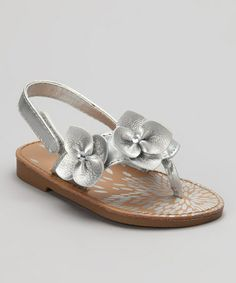 Take a look at this Silver Akai Sandal - Infant & Toddler by Natural Steps on #zulily today!