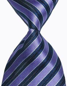 Hot Selling Brand New Classic Striped Tie Multi Dark Gray Red Blue Purple Black Yellow Jacquard Woven 100% Silk Mens Tie Necktie