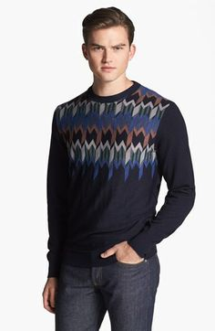 Missoni Intarsia Knit Crewneck Sweater available at #Nordstrom