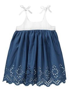 Eyelet colorblock dress by The Gap Little Girl Outfits, Little Girl Fashion, Kids Outfits, Kids Fashion, Lila Baby, My Baby Girl, Girly Girl, Colorblock Dress, Baby Girl Dresses